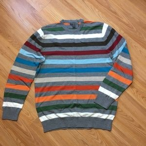 Old Navy Men's Striped Crew Neck Sweater Size L